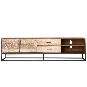 Meuble TV bois et métal 177cm NOA