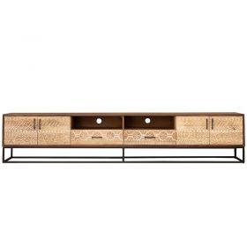 Grand meuble TV bois et métal 232cm NOA