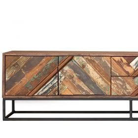 Meuble industriel TV bois et métal 177cm RITA