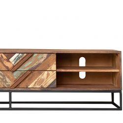 Meuble TV original bois et métal 177cm RITA