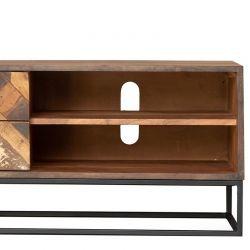 Meuble TV original bois et métal 127cm RITA