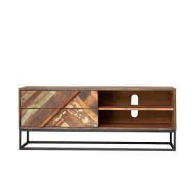 Meuble TV bois et métal 127cm RITA