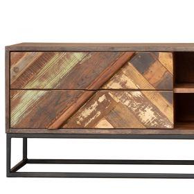 Meuble TV industriel bois et métal 127cm RITA
