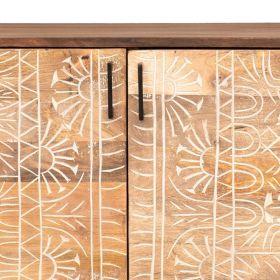 Buffet ethnique bois et métal 139cm NOA