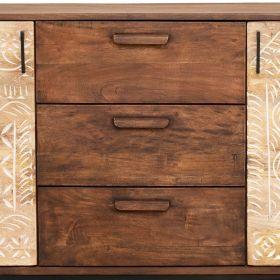 Buffet original bois et métal 2 portes 139cm NOA