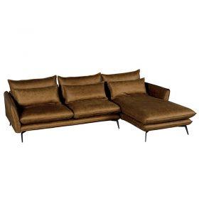 Canapé d'angle tissu microfibre 280cm EDEN Casita EDANGCOMI4RD retour droit