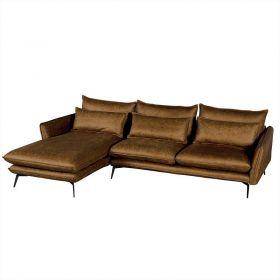Canapé d'angle tissu 280cm EDEN Casita EDANGCOMI4RG retour gauche
