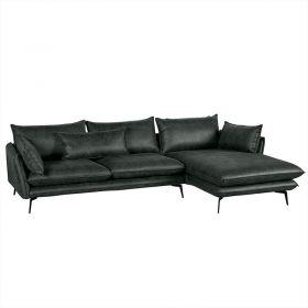 Canapé d'angle tissu 280cm EDEN Casita EDANGGRMI5RG retour gauche