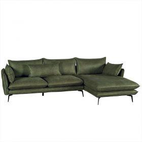 Canapé d'angle tissu kaki 280cm EDEN Casita EDANGKAMI6RD retour droit