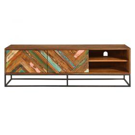 Meuble TV bois et métal 145cm RITA