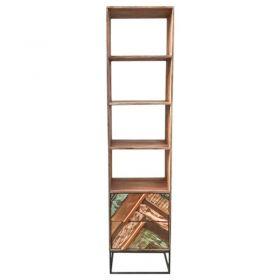 Bibliothèque industriel bois et métal 50cm RITA