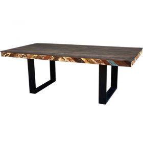 Table repas industrielle bois et métal 211cm RITA