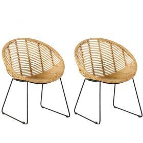 Lot de 2 chaises rotin design Casita MONACHA 10