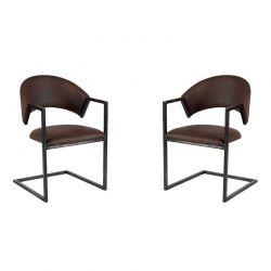 Lot de 2 chaises polyester CHA 200AMAR