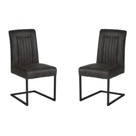 Lot de 2 chaises polyester CHA 300GRI