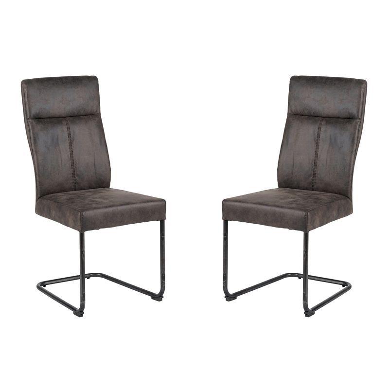Lot de 2 chaises polyester CHA 700GRI