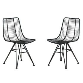 Lot de 2 chaises fer Casita CHAFERNOIR
