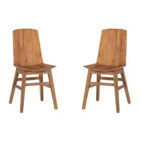 Lot de 2 chaises teck naturel Casita CHAWOOD 1