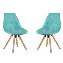 Lot de 2 chaises scandinave Casita CHAYATETUR
