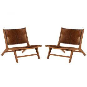 Lot de 2 fauteuils teck Casita AMFAU1