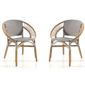 Lot de 2 chaises rotin Casita TOBAF1