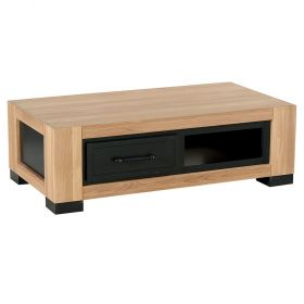 Table basse chêne 120cm 2 tiroirs Cleveland Casita CLETABA2TIR