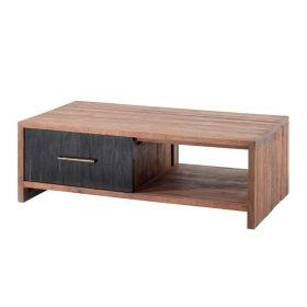 Table basse teck 123cm Zetta Casita ZETTABA5
