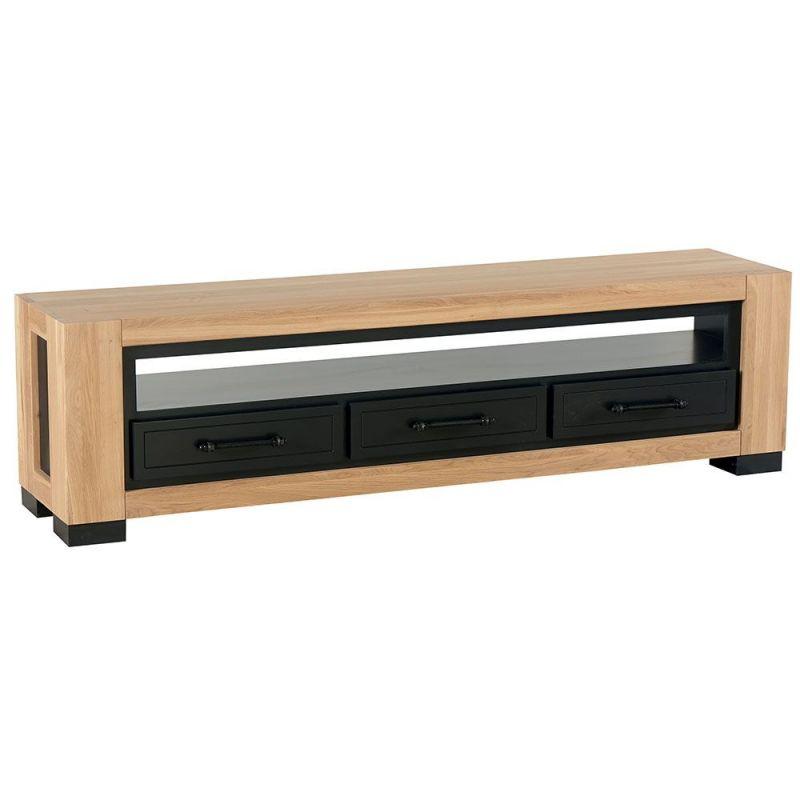 Meuble TV chêne 180cm 3 tiroirs Cleveland Casita CLETEV300