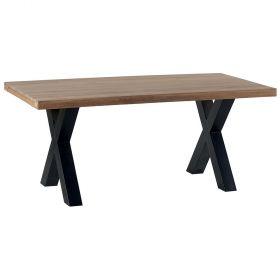Table chêne massif pieds X 180cm Cleveland Casita CLETA180