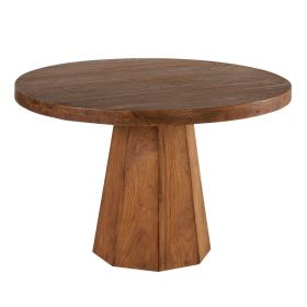 Table ronde teck massif 120cm Caddel Casita CADTARO 120