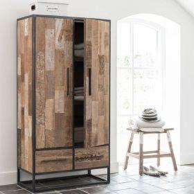 Armoire mosaique bois et métal 80cm SWAN d-bodhi