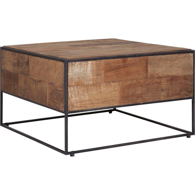 Table basse carrée en teck et métal 60cm SWAN d-bodhi
