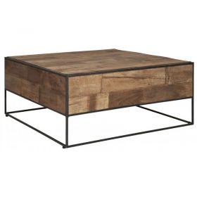 Table basse carrée en teck et métal 80cm SWAN d-bodhi