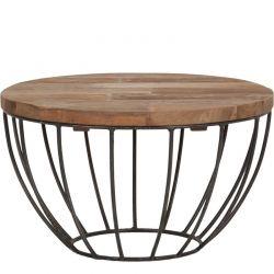 petite table basse industrielle ronde 60cm 60cm SWIN d-bodhi