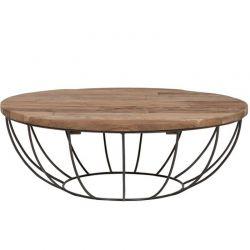Table basse teck et métal noir 100cm SWIN d-bodhi