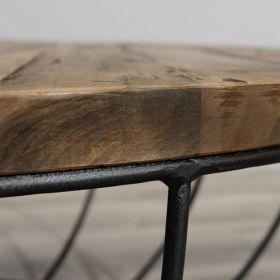 Table basse industrielle métal noir 80cm SWIN d-bodhi