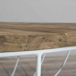 Table basse teck massif industrielle 80cm SWIN d-bodhi