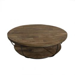 Table basse industrielle ronde double plateau SWIN d-bodhi