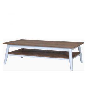 Table basse teck et métal blanc 140cm TWIN d-bodhi