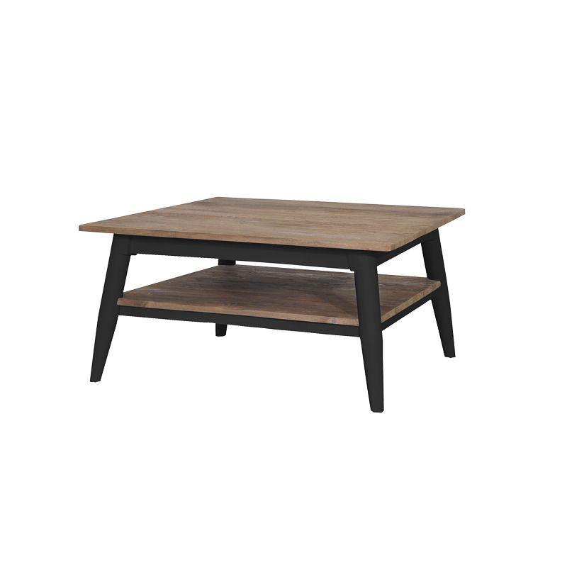 Table basse teck et métal noir 60cm TWIN d-bodhi