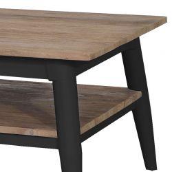 Table basse carrée teck et métal noir 60cm TWIN d-bodhi