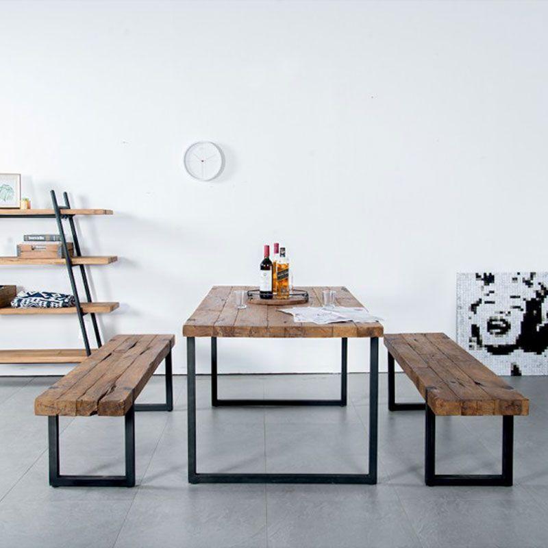 Table repas teck et métal 215cm WING d-bodhi