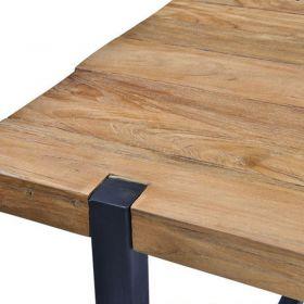 Table à manger teck et métal 215cm WING d-bodhi