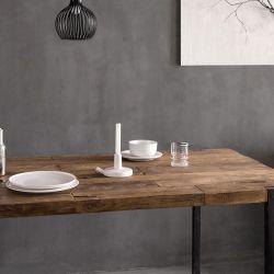 Table industrielle teck et métal 215cm WING d-bodhi