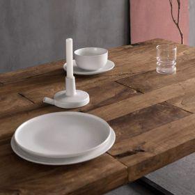 Table bois massif teck et métal 215cm WING d-bodhi