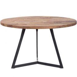 Table repas ronde teck et métal 130cm SWIN d-bodhi
