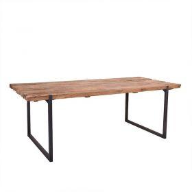 Table repas teck massif et métal 220cm SWAN d-bodhi