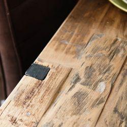 Table à manger teck massif et métal 220cm SWAN d-bodhi