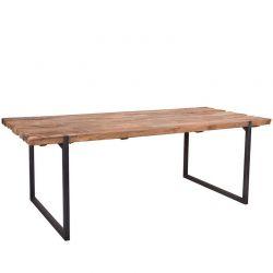 Table repas teck massif et métal 240cm SWAN d-bodhi