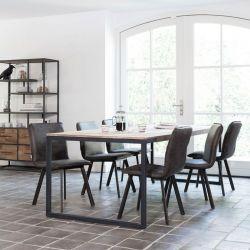 Table salle à manger teck et métal 220cm SWAN d-bodhi